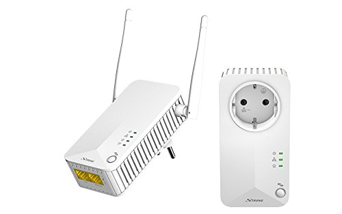 Strong 500 Kit Powerline WiFi, 2.4Ghz 300Mbps su Powerline, 2 Porta Ethernet, Plug And Play,...