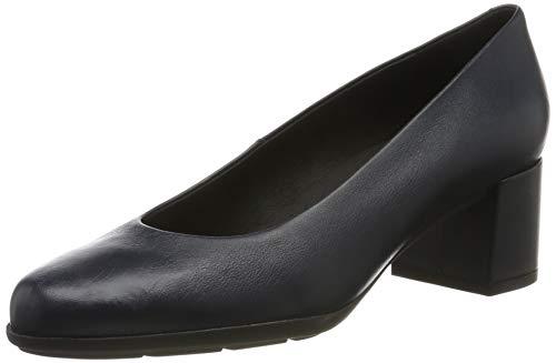 Geox D New ANNYA Mid A, Zapatos con Tacón para Mujer, Azul (Navy C4002), 42 EU