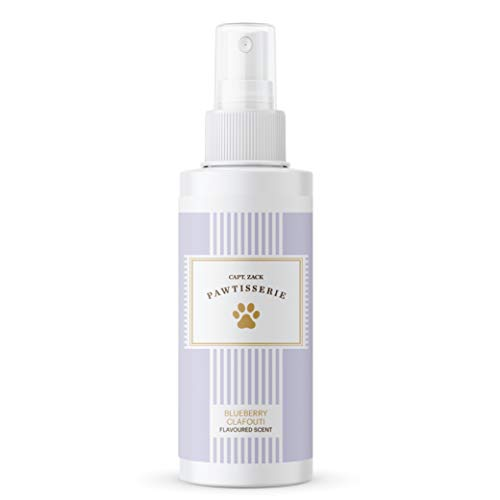 Captain Zack Blueberry Clafouti Flavoured Scent/Perfume/Deodorant/Cologne for Dogs & Cats  Contains Aloe Vera Extract & Vitamin E for Fresh Healthy Coat  Natural Fragrance  Alcohol-Paraben Free  50ml