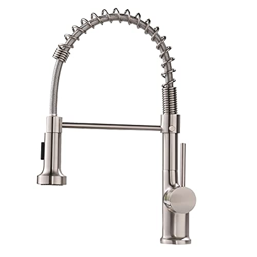 GIMILI Kitchen Faucet with Pull Down Sprayer High Arc Single...