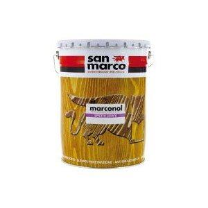 San Marco MARCONOL Effetto cerato Finitura idrorepellente semilucida antigraffio per legno esterno, colore: Trasparente, size: 1 lt