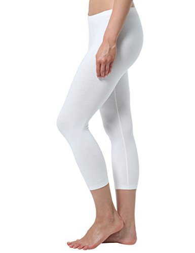 Berydale Leggings Capri donna, 100 DEN, Bianco, XL