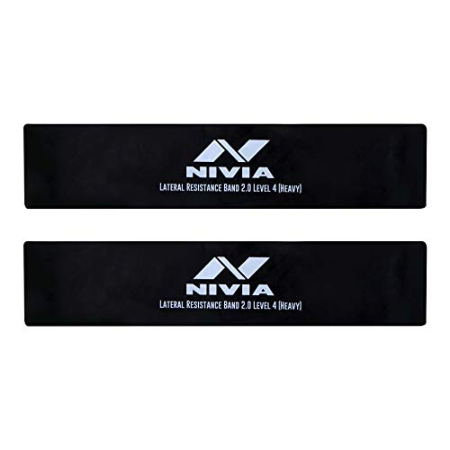 Nivia Lateral Resistance Band and Tubes 2.0 (Pack of 1, Black Level-4)
