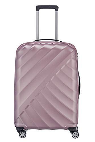 "TITAN ""SHOOTING STAR"" von TITAN®: Robuste Hartschalen-Trolleys in coolem Metallic-Look in 4 Trendfarben Koffer, 66 cm, 70L, Rose"