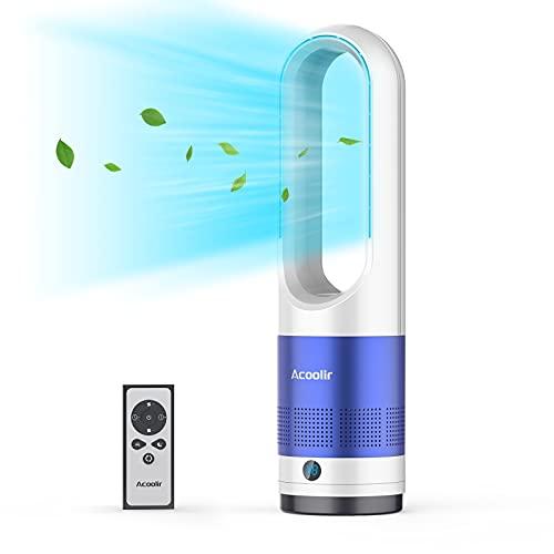Ventilatore a Torre, Ventilatore a Piantana Silenzioso con Telecomando, Oscillante a 80° Potente 8 Velocità Timer Spegnimento Automatico Facile da Pulire Salvaspazio 40W 60CM per Casa Ufficio