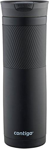Contigo Snapseal Byron - Taza térmica de acero inoxidable, negro mate, 3.25' x 9.60' (8.3 x 24.4 cm)