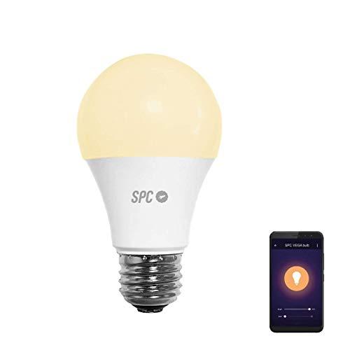 SPC Vega 1050 - Bombilla LED Wi-Fi E27, 10 W, 1050 lm,...