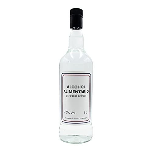 Alcohol etilico alimentario - Alcohol para hacer licores, maceraciones y extractos - Alcohol apto para consumo humano (usos de boca) - 1 Litro