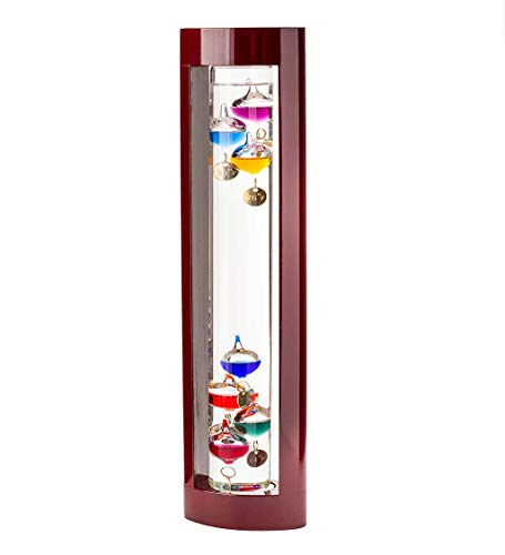Wind & Weather Galileo Thermometer with Cherry Finish Wood...