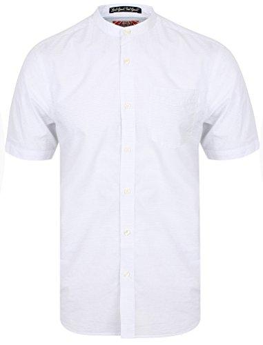 Tokyo Laundry Camicie Casual - 'Scandi' - Grandad - Manica Corta - Uomo (Bianco) S