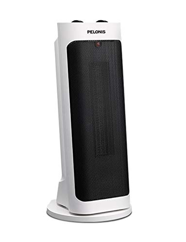 PELONIS PH-19J 1500W Fast Heating, Programmable Thermostat, Easy Control, Widespread Oscillation, Over Heating & Tip-Over Switch Protection, Leaning Ceramic