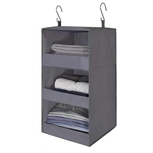 GRANNY SAYS 3-Shelf Hanging Closet Organizer, Collapsible Hanging...
