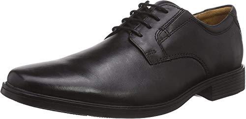 Clarks Tilden Plain, Zapatos Derby para Hombre, Negro (Black