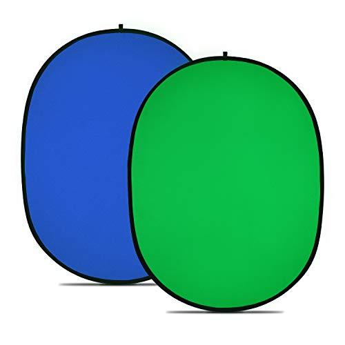 Neewer Chromakey Verde Chromakey Blu Sfondo Pieghevole Sfondo Pieghevole Reversibile 5'x7 '/150x200cm Chroma-Key Blu/Verde