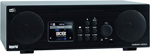 Imperial 22-247-00 Dabman i450 CD Internet-/DAB+ Radio (2.1 Sound,Bluetooth,Internet/DAB+/DAB/UKW,WLAN,LAN, CD, USB,Aux In,Line-Out,inkl. Netzteil) schwarz