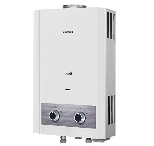 Havells Flagro 6L Gas Water Heater with Steel Connection Pipe(White)