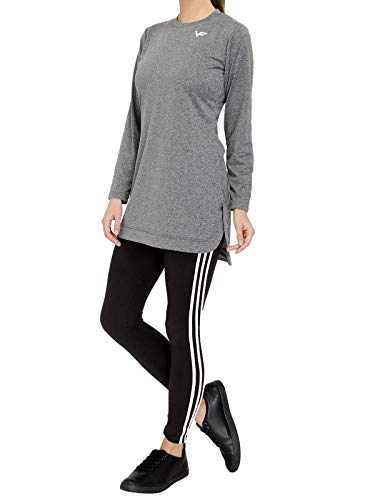 Vero Forza Masq Long Length Tshirt Top for Sportswear - Activewear Full Sleeves (Dry Fit) Blue