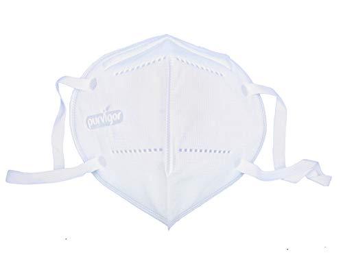 3 pezzi di maschera N95 con clip per naso regolabile per una perfetta tenuta del viso, 5 strati di protezione efficace contro particelle di aria, polvere, nebbie e inquinanti