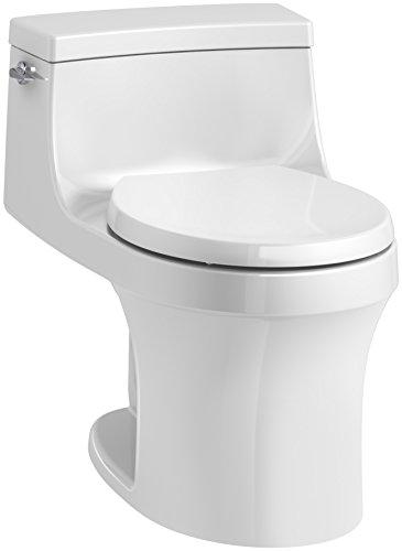 KOHLER K-4007-0 San Souci Toilet, 24.25 x 16.75 x 25.63 inches, White