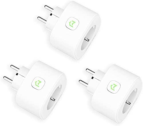 Enchufe Inteligente, Mide el Consumo 16A 3680W Wi-Fi Smart Plug, con...