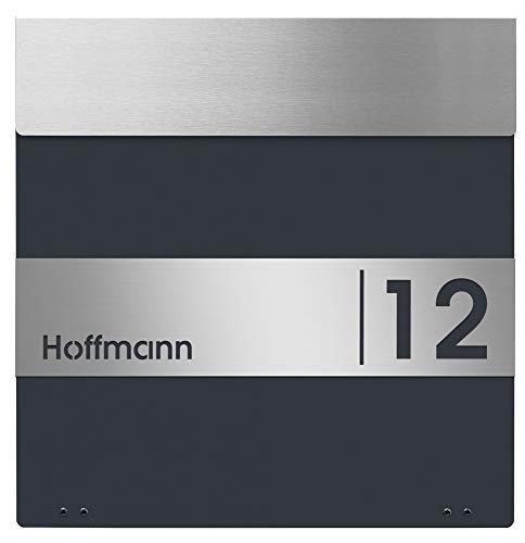 Frabox Design Briefkasten NAMUR mit Hausnummer & Namen