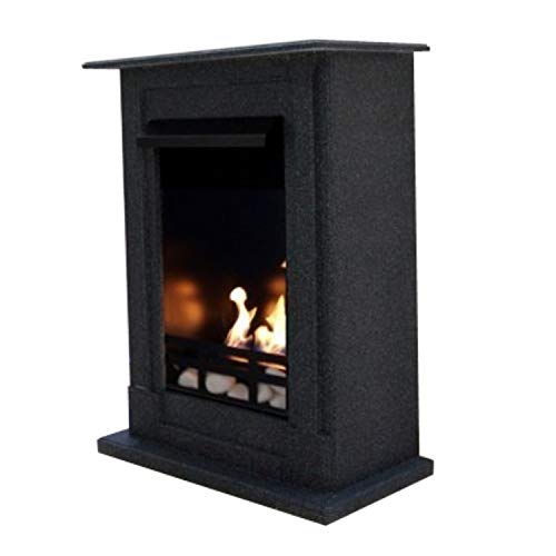 Venice Model Royal Premium Fireplace, Gel and Bioethanol, Choice of 9 Colours Granito scuro