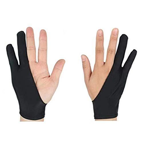 Waymeduo per pittura schizzo piatto speciale 2 guanti per dita anti-scomparsa anti-sudore...