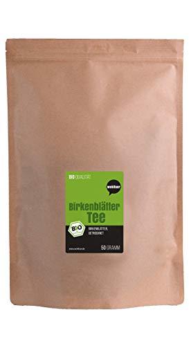 Wohltuer Bio Birkenblätter Tee aus qualifizierter europäischer Wildsammlung 50g | Harntreibend & Entschlackend | Kräutertee zur Steigerung des Stoffwechsels