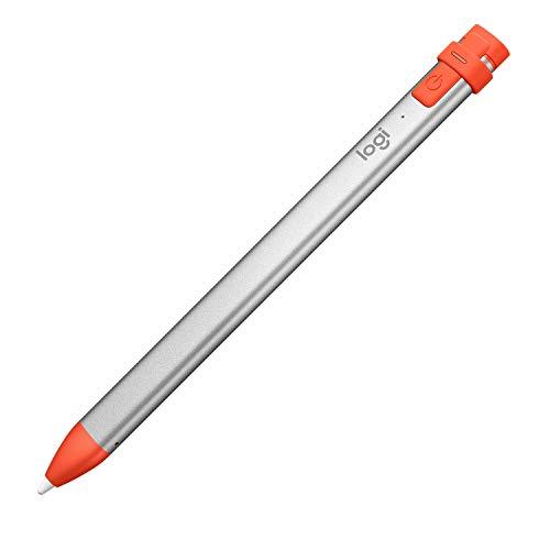 Logitech Crayon Lápiz Digital para Todos los iPad 2019 o posteriores, iPad, iPad Pro, iPad Mini, iPad Air with iOS 12.2 o posterior, Naranja