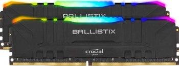 Crucial Ballistix BL2K8G30C15U4BL RGB, 3000 MHz, DDR4, DRAM, Mémoire Kit pour PC de Gamer, 16Go (8Go x2), CL15, Noir