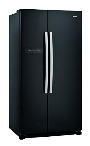 Gorenje NRS 9182 BBK Side-by-Side / A++ / 177 cm / 374 kWh/Jahr / 373 L Kühlteil / 204 L Gefrierteil / Multi-Flow 360 Grad Kühlsystem, tiefschwarz