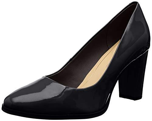Clarks Kaylin Cara, Zapatos de Tacón Mujer, Negro (Black Pat Black Pat), 39 EU