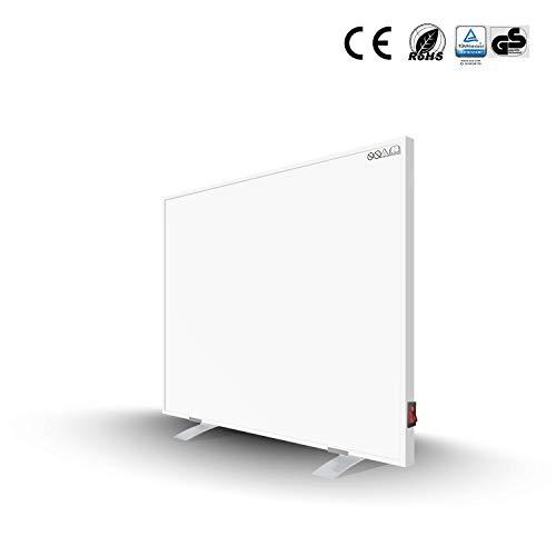 Byecold Infrarotheizung mit Standfüßen 300W Infrarot Wandheizung mit Schalter Heizplatte Heizpaneel Energiesparend Überhitzungsschutz Carbon Crystal mit RoHS CE GS
