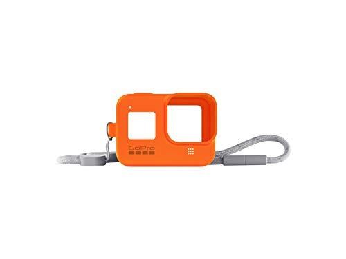 Hyper Orange Guaina + Cordino per Hero8 Black (Accessorio Gopro Ufficiale) Arancia