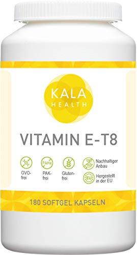 Kala Health Vitamin E-8 180 Kapseln - Enthält alle 8 bekannten Formen Vitamin E, darunter 4 Tocotrienole (40mg) und 4 Tocopherole von ausgezeichneter Qualität, aus natürlichen Quellen