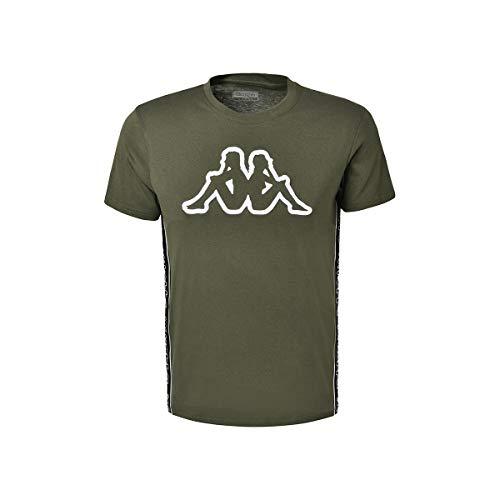 Kappa Raggio - Maglietta da Uomo, Uomo, T-Shirt, 304RV30_900_XS, Verde, Bianco, XS