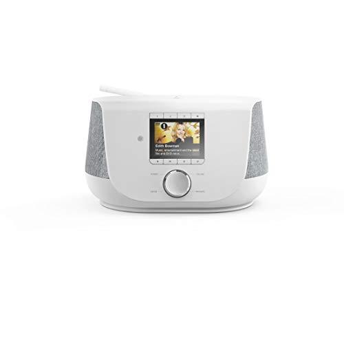 Hama Internetradio mit Digitalradio-Empfang, 2-Wege-Lautsprecher & Handy-Ladefunktion (WLAN/DAB/DAB+/FM, Bluetooth/Spotify Streaming, Stationstasten, Radio-Wecker, App) Internet Radio weiß