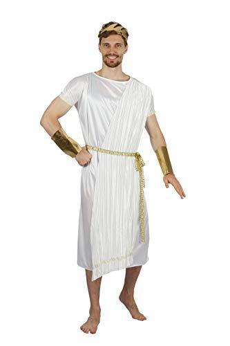 Bristol Novelty AF088 - Costume da God da uomo, bianco, oro, taglia unica