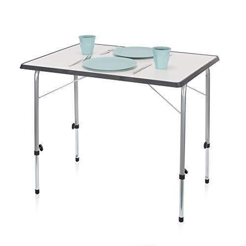 Campart Tavolino da Esterni TA-0831 Tavolo, Grigio, 80 x 60 cm