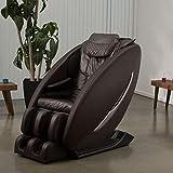 Ji - Zero Wall Heated L Track Massage Chair (Brown)