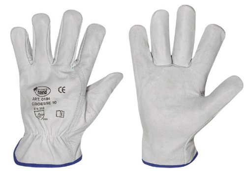 HandschuhMan., guanti da lavoro in morbida pelle bovina, guanti da guida di StrongHand, misura 8-12,...