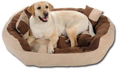Slatters Be Royal Store Round Pet Sofa Shape Reversable Dual Cream Brown Color Ultra Soft Ethnic...