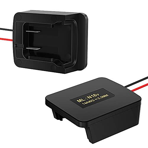 Battery Adapter Converter for Milwaukee M-18 18V Battery 48-11-1850 48-11-1815 XC Batteries Dock Power Connector 14 Gauge
