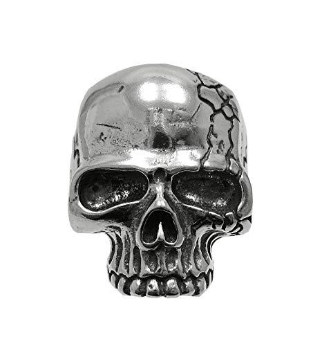 Large heavy sterling silver biker men ring solid skull 925 size L - Z++++++ Empress jewellery