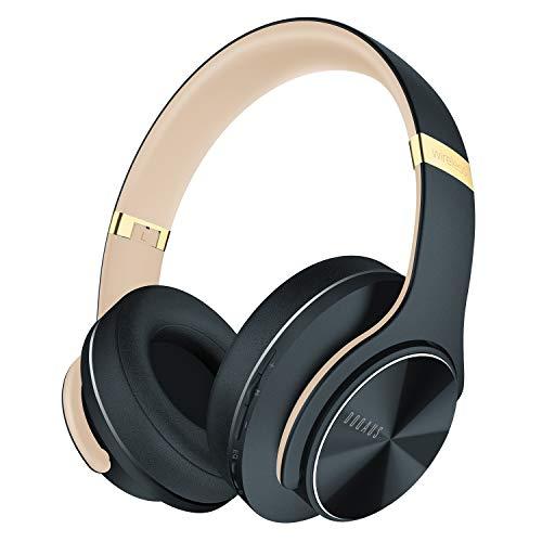 DOQAUS Casque Bluetooth sans Fil, 3 Modes EQ, Casque Audio Stéréo Hi-FI 52 Heure de Lecture Bluetooth 5.0 avec Microphone Intégré, Confortable Cache-Oreilles, Cours en Ligne/Téléphone/Tablettes/PC