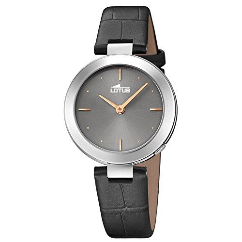 Lotus Damen Analog Quarz Uhr mit Leder Armband 18483/2
