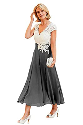 V Neck Lace Bodice A-Line Chiffon Mother Of The Bride Dress;Short Prom Dress;Cap Sleeves Keyhole Back Formal Gown;Bulit in Bra;Fully Lined Suit for Bridesmaid Dresses;Prom Dress;Evening Party Dress;Formal Dresses;Wedding Party;Homecoming dress;Birthd...