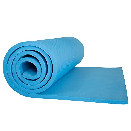 Wakeman Sleeping Pad, Lightweight Non Slip Foam Mat with Carry Strap Outdoors (Thick Mattress for Camping Hiking Yoga and Backpacking) (Light Blue)