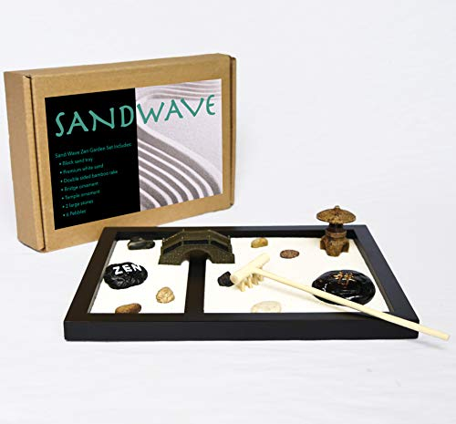 Sand Wave Zen Garden | Meditation Decor | Japanese Decor Zen Garden...