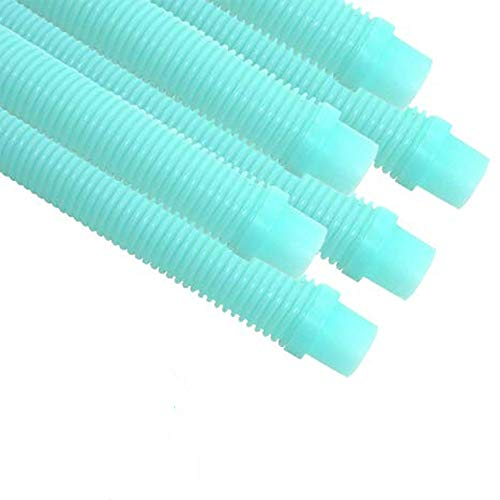 Puri Tech 6 Pack Universal Pool Cleaner Suction Hose 48 Inches Long Aqua Color for Kreepy Krauly, Baracuda G3/G4, Navigator, More Universal Fit 4' Feet Long